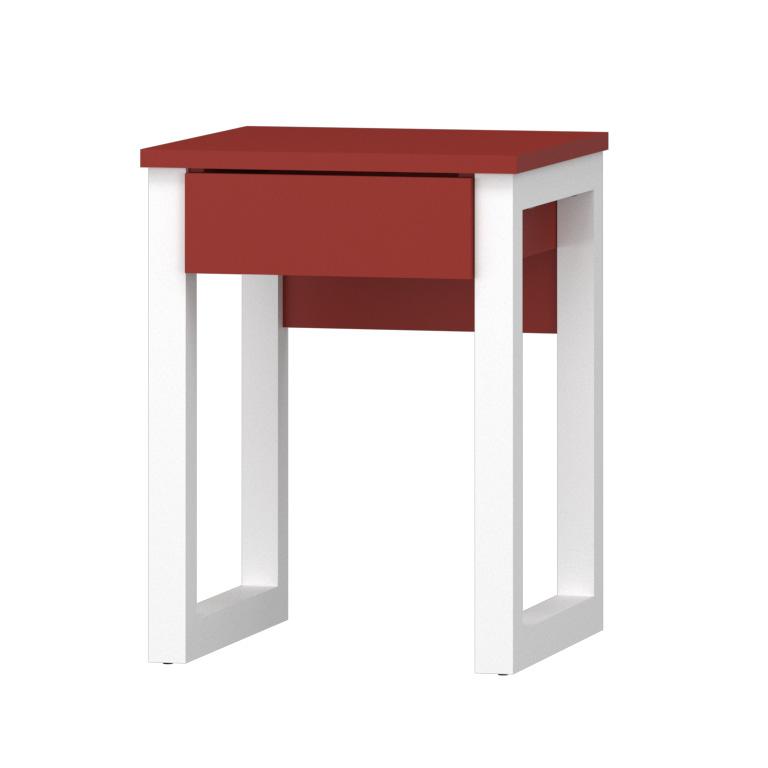 bianco / ceramic red