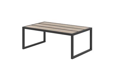Panca in acciaio Alette con piano in legno